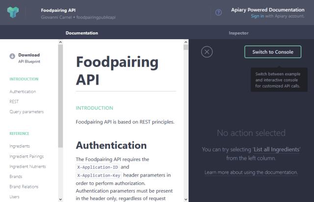 Foodpairing API