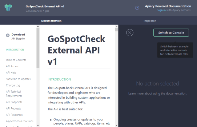 Gospotcheck API