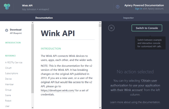 Wink App API