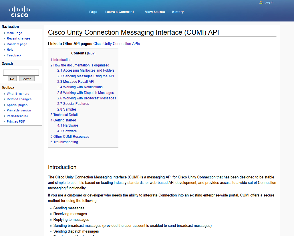 Cisco Unity Connection Messaging Interface API