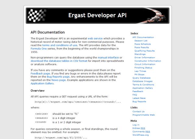 Ergast API