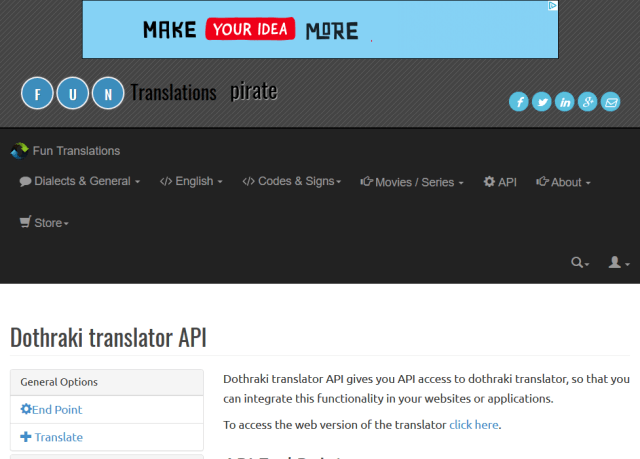 Dothraki Translator API