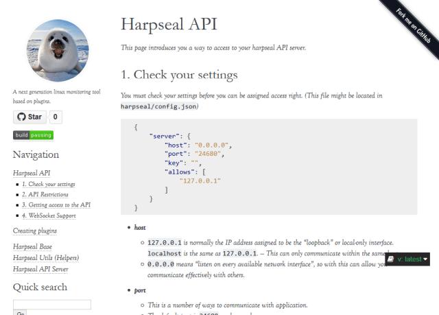 Harpseal API