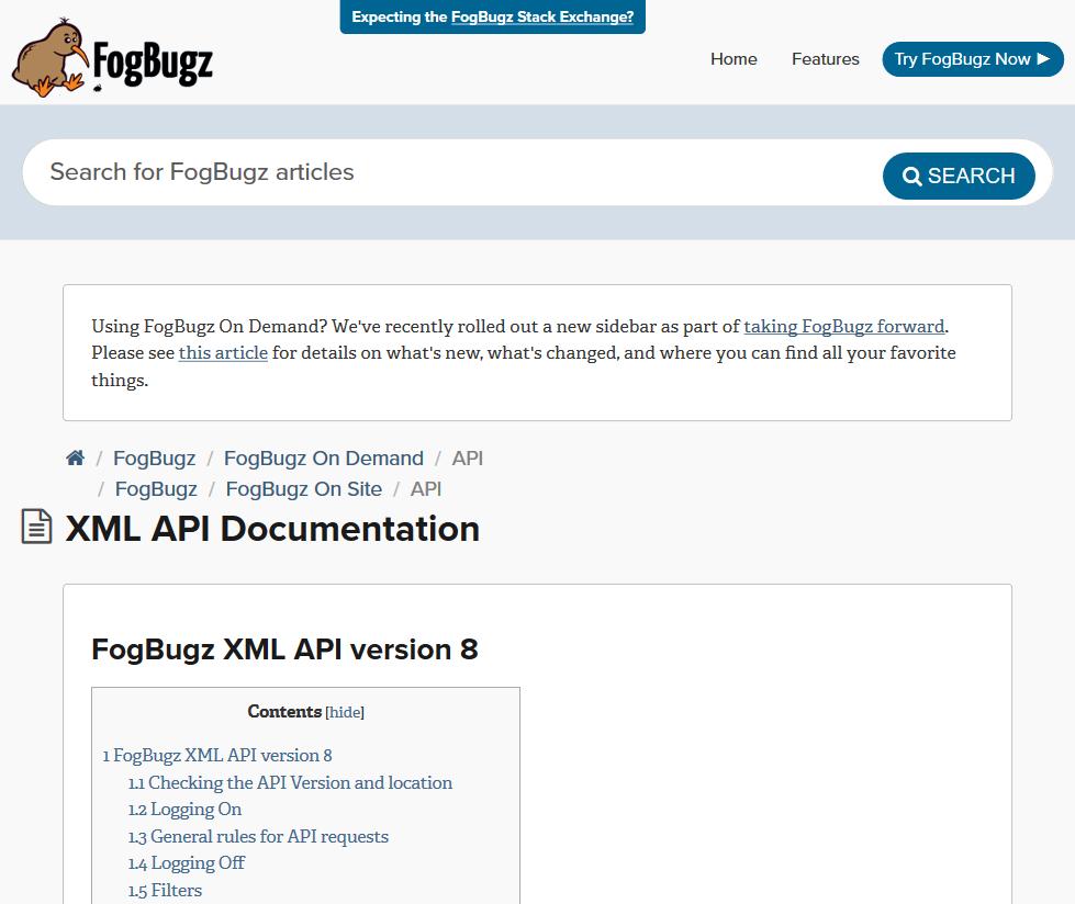 Fogbugz Free fog creek fogbugz xml api (overview, documentation