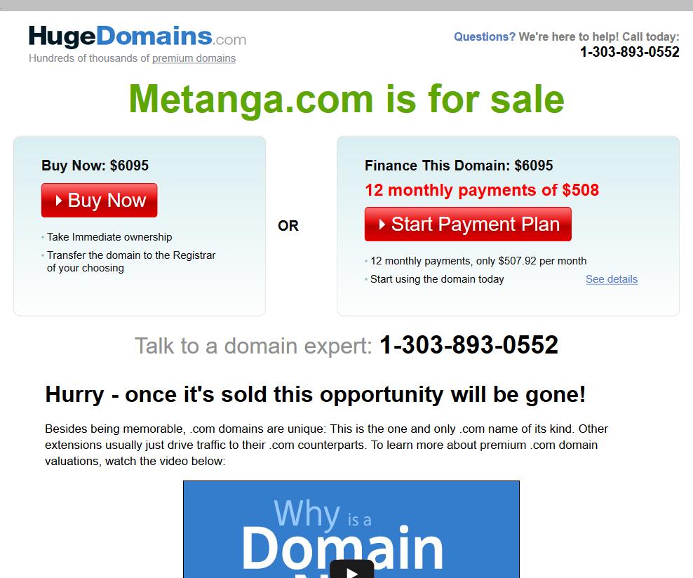Metanga API