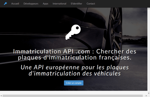 Search French License Plates API
