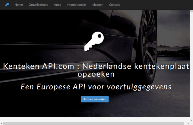 Dutch Car License Plate Lookup API