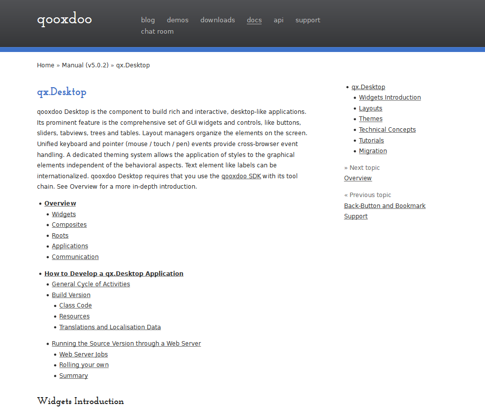 qx.Desktop API