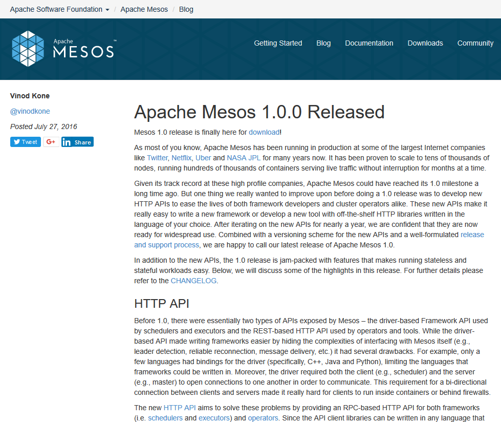 Apache Mesos API