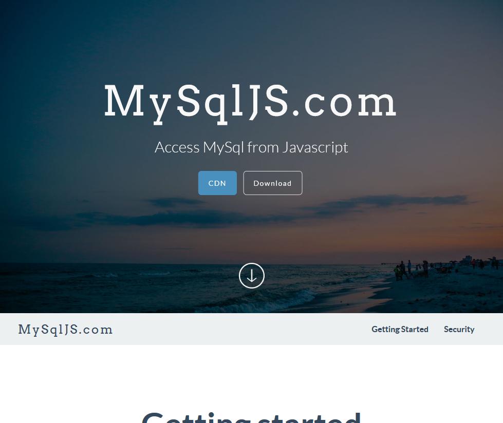 MySqlJS API