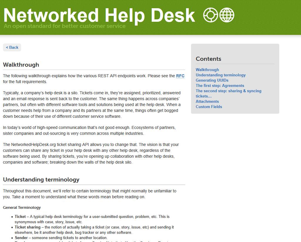 Networked Help Desk API