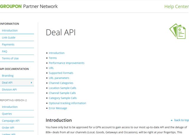 Groupon API