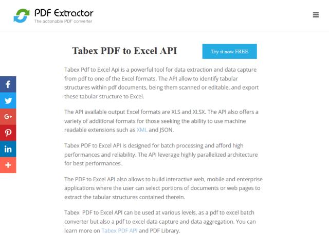 Tabex API