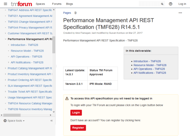 Tm Forum Performance Management API