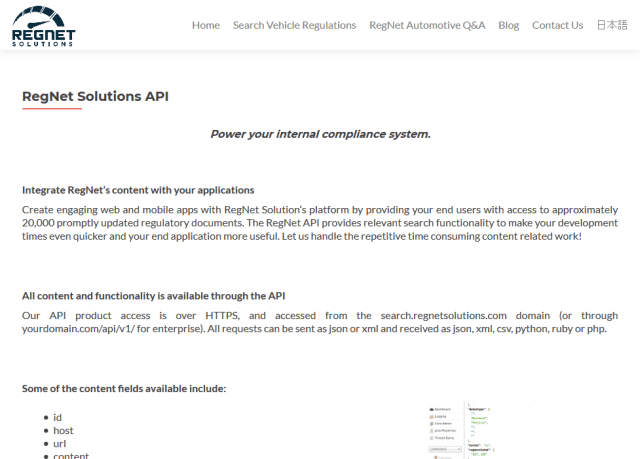 Regnet Automotive Solutions API