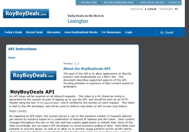 Royboydeals API