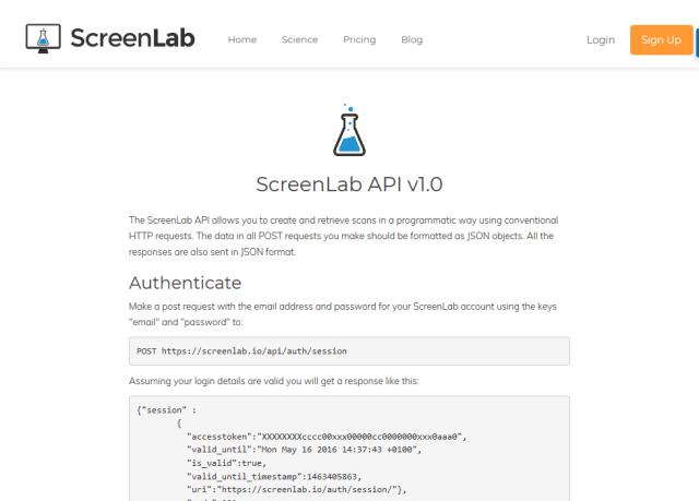 Screenlab API