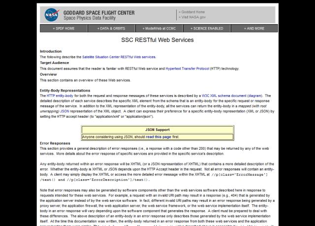 Nasa Satellite Situation Center API