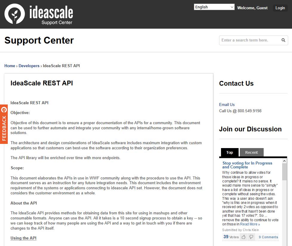 IdeaScale API