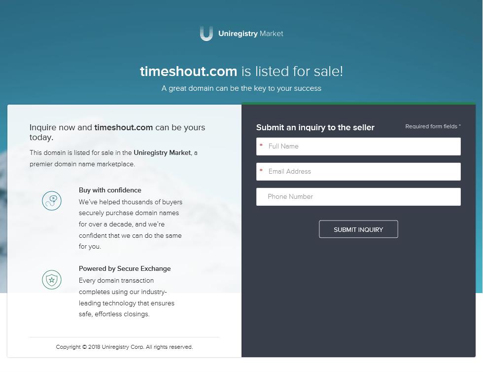 TimeShout API