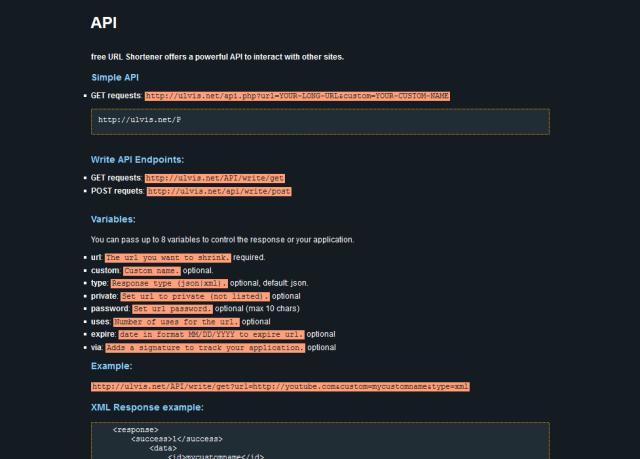 Ulvis Free Url Shortener API