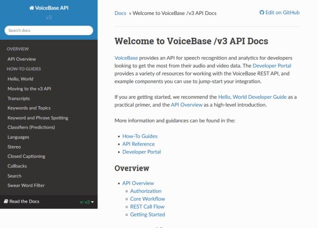 Voicebase API
