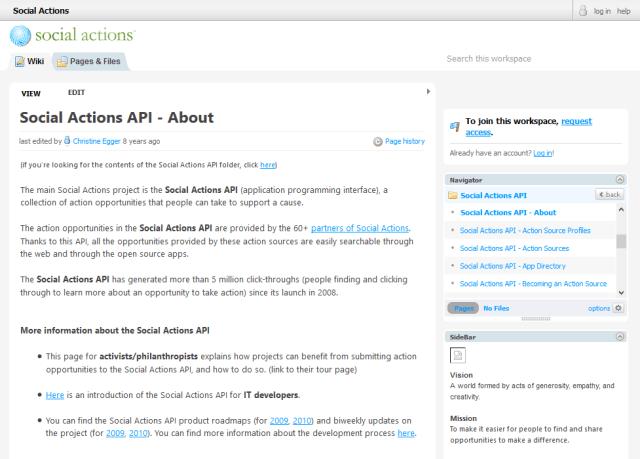 Social Actions API