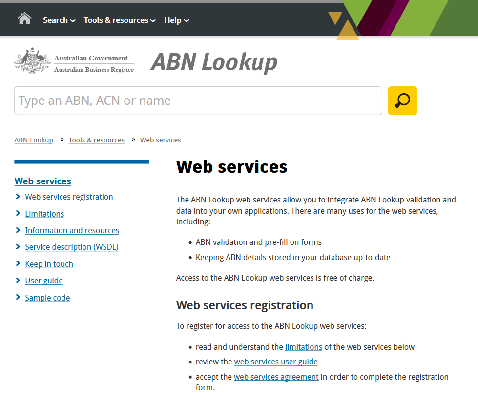 Lookup A Number >> Australian Business Number Lookup Api Overview
