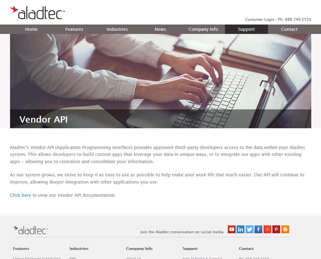 Aladtec API
