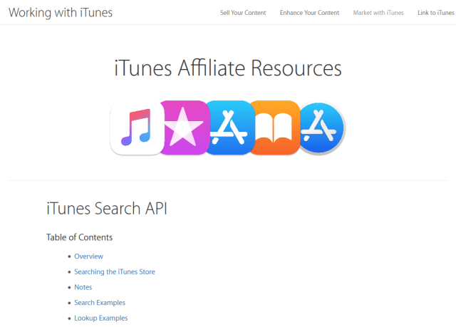 Itunes App Store Search API