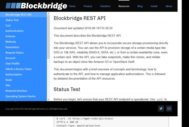 Blockbridge API
