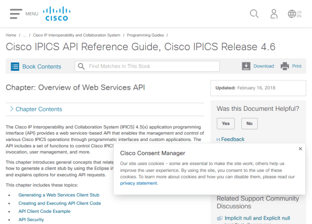 Cisco Ip Interoperability And Collaboration System Ipics Rest API