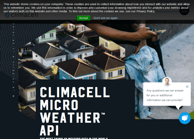 Climacell Micro Weather API