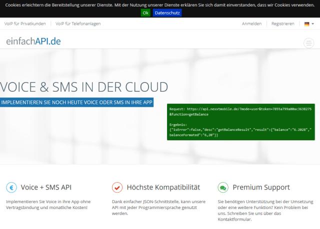 Nexxt Mobile Voice Sms API