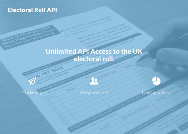 Uk Electoral Roll API