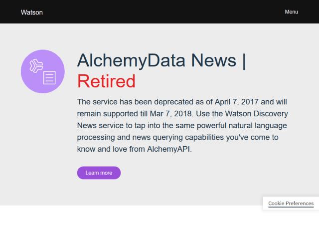 Ibm Watson Alchemydata News API