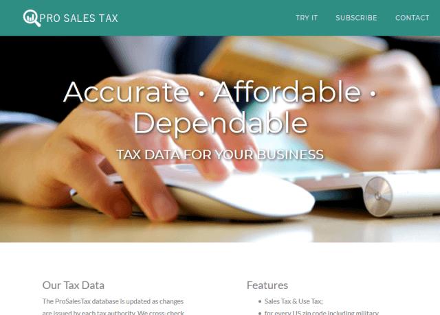 Pro Sales Tax API