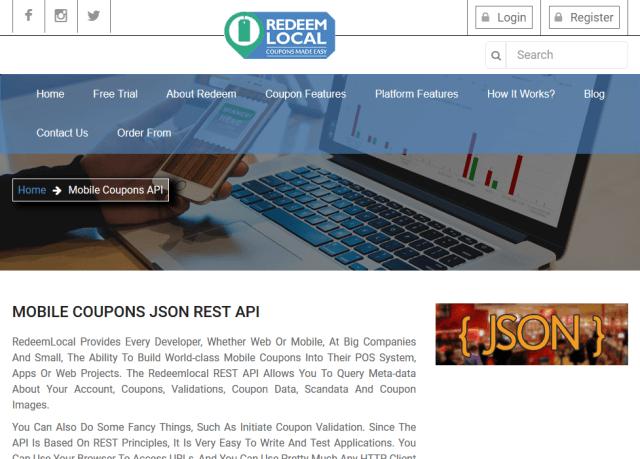 Redeem Local Mobile Coupons API