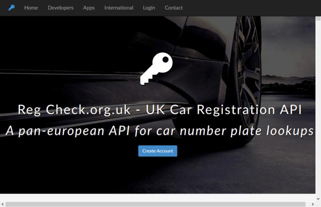 Uk Irish Car Registration Lookups API