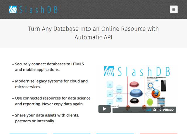 Slashdb API