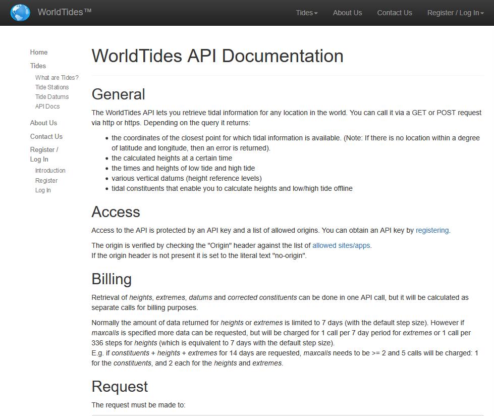 World Tides API