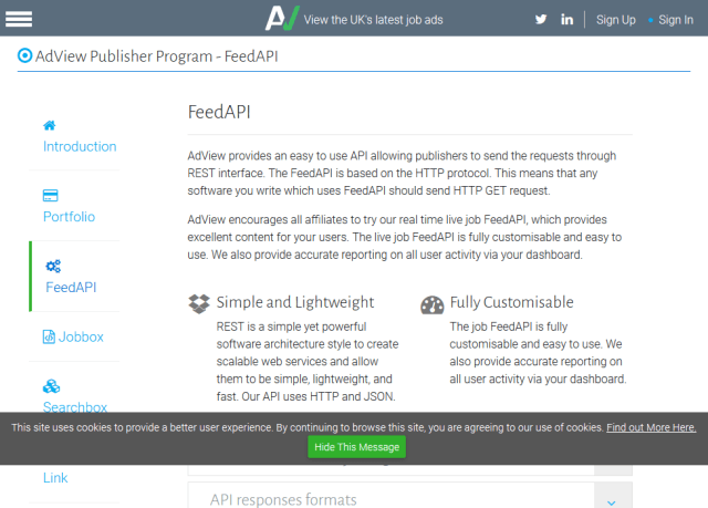 Adview Feed API