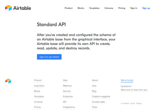 Airtable API