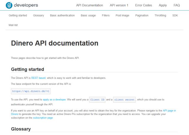Dinero API