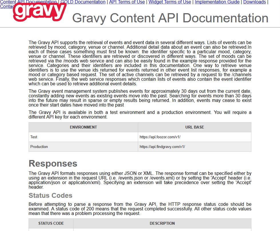 Gravy API