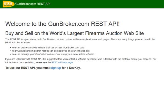 Gunbroker API