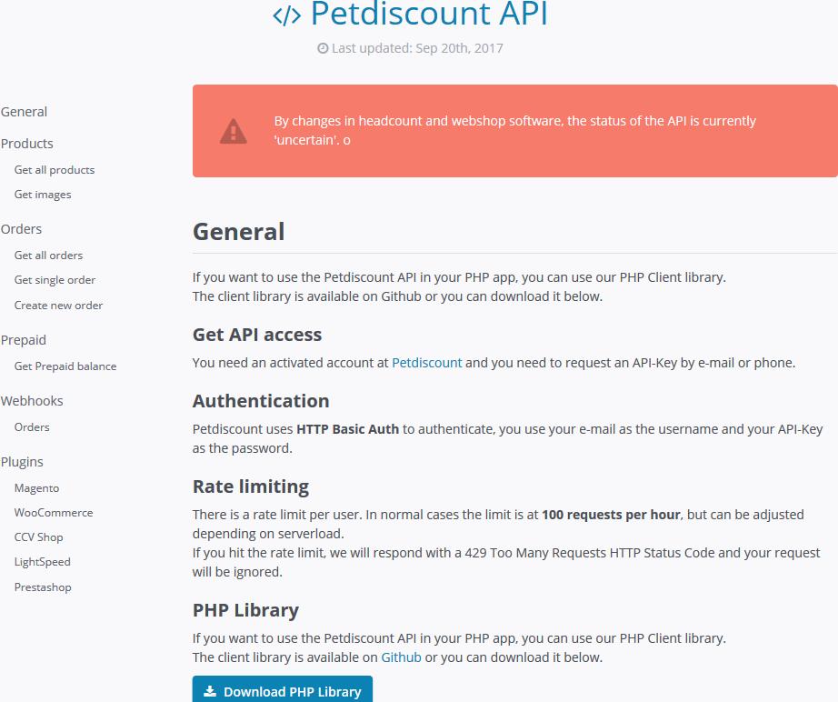 Petdiscount API
