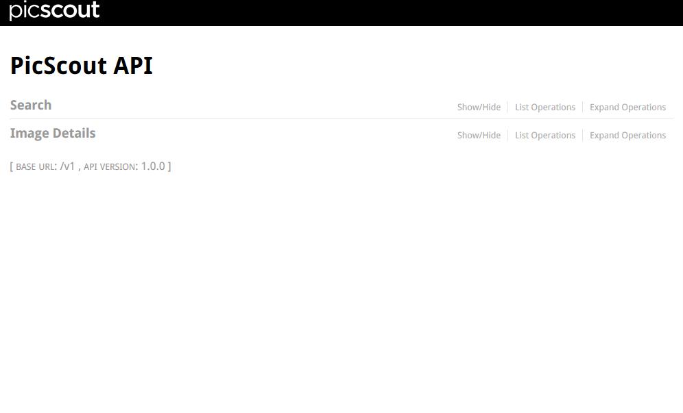 PicScout API