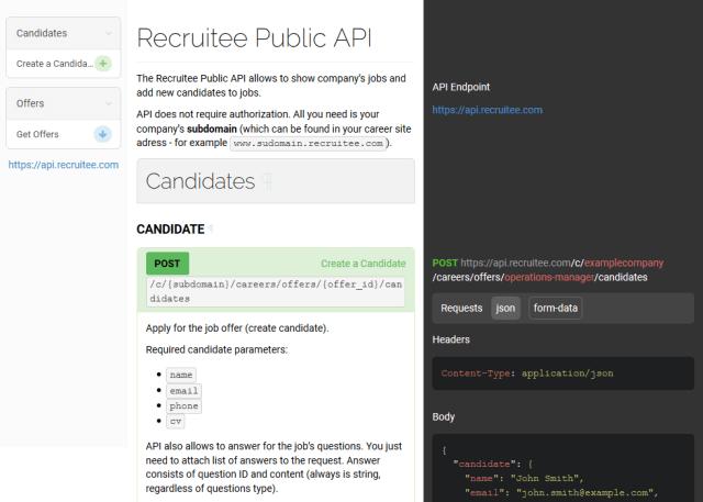 Recruitee Public API