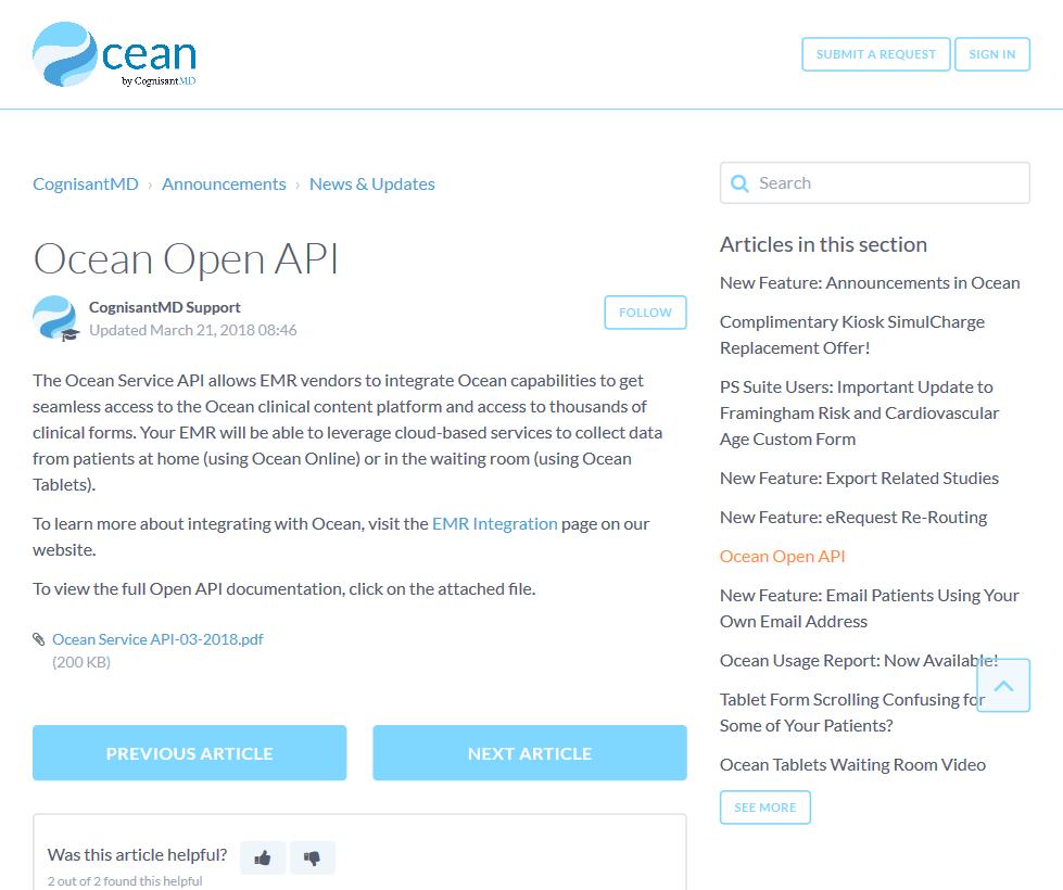 Ocean Open API